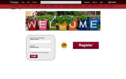 Screenshot of Login Page trembu.com - Outstanding Free Online Marketplace|Better Shopping online|Free Online Selling         Sites - captured Nov. 5, 2014