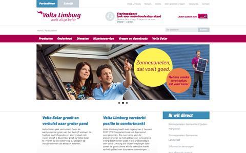 Screenshot of Home Page voltalimburg.nl - Volta Limburg is uw service-organisatie voor CV-ketels - Volta Limburg - captured Nov. 30, 2016