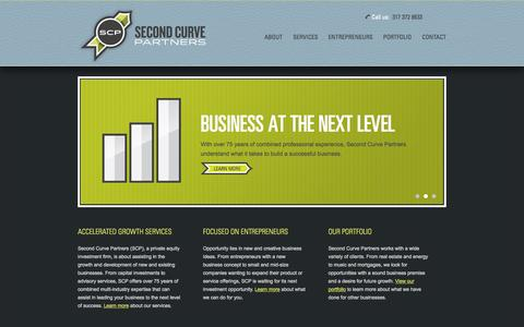 Screenshot of Home Page secondcurvepartners.com - Second Curve Partners | Private equity investment firm — Capital infusion, advisory services, real estate services - captured Sept. 30, 2014