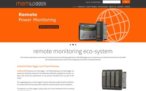 Screenshot of Home Page m2mlogger.com - Industrial Data logger Remote Monitoring System Web Scada - captured Sept. 24, 2014