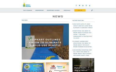 Screenshot of Press Page flipkart.com - News Archives - Flipkart Stories - captured Dec. 4, 2019