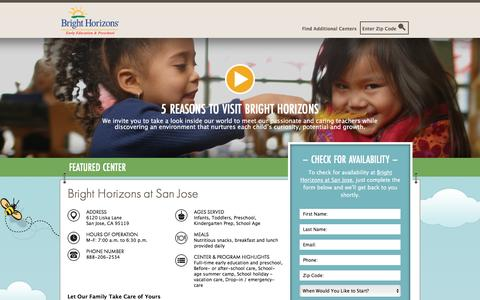 Screenshot of Landing Page brighthorizons.com - Bright Horizons® | Child Care, Back-Up Care, Early Education, and Work/Life Solutions - captured Feb. 20, 2017
