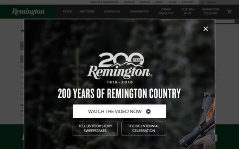 Screenshot of Support Page remington.com - Help Center | Remington - captured Nov. 30, 2016