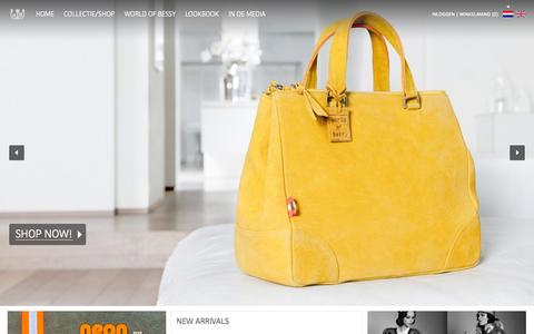Screenshot of Home Page worldofbessy.com - World of Bessy, handbags and more - captured Sept. 30, 2014
