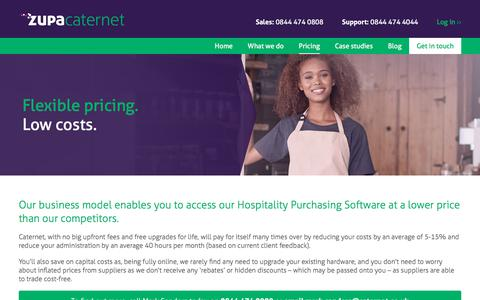 Screenshot of Pricing Page caternet.co.uk - Caternet's pricing structure on our hospitality purchasing software - captured July 17, 2017