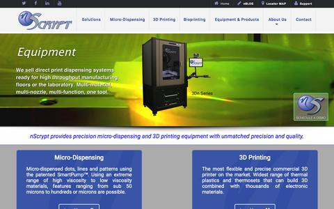 Screenshot of Home Page nscrypt.com - nScrypt | 3D conformal dispensing systems &  laser micro printing - captured Feb. 26, 2016
