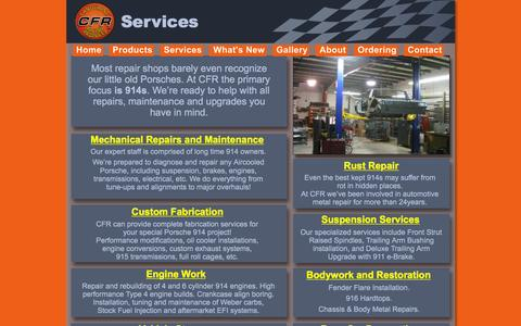 Screenshot of Services Page tangerineracing.com - Tangerine Racing Services - captured Jan. 22, 2016