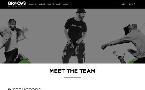 Screenshot of Team Page groov3.com - Meet the Team | GROOV3 - captured July 15, 2018