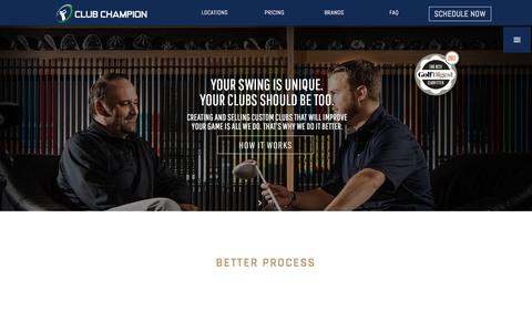 Screenshot of Home Page clubchampiongolf.com - Club Champion is the #1 premium golf club fitter nationwide | Home - captured Aug. 2, 2017