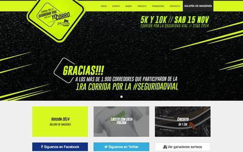 Screenshot of Home Page yocorro.cl - Corrida por la seguridad vial: YO CORRO Mutual de Seguridad 2014 - captured Jan. 29, 2015