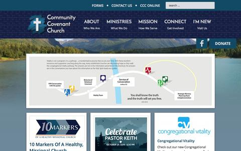 Screenshot of Home Page communitycovenant.net - Community Covenant Church — Eagle River Alaska: Where real people meet a real God to live in a real world. - captured Oct. 10, 2014