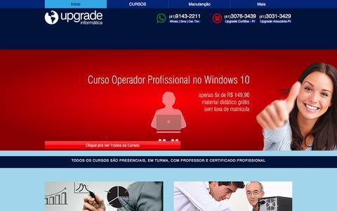 Screenshot of Home Page cursosupgrade.com - Upgrade Informática | (41) 3031-3429 - captured Nov. 12, 2017