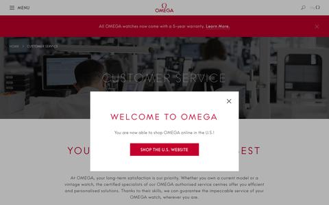 Screenshot of Support Page omegawatches.com - Customer Service  | OMEGA® - captured Nov. 10, 2018
