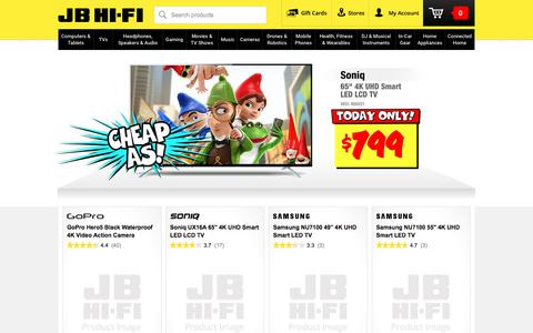 Screenshot of Home Page jbhifi.com.au - JB Hi-Fi | JB Hi-Fi - Australia's Largest Home Entertainment Retailer - captured July 26, 2018