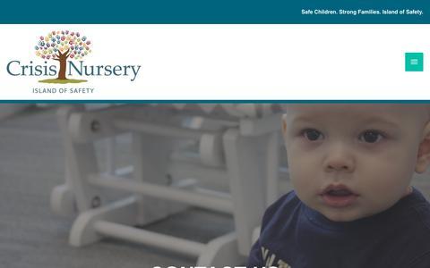 Screenshot of Contact Page crisisnursery.net - Contact Us - Crisis Nursery - captured Nov. 5, 2018