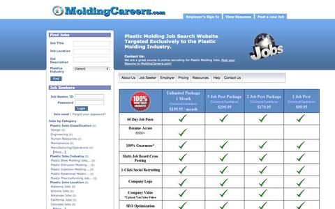 Screenshot of Pricing Page moldingcareers.com - Pricing - captured Oct. 1, 2014