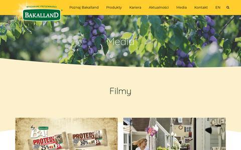 Screenshot of Press Page bakalland.pl - Media | Bakalland - captured Sept. 30, 2018