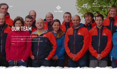 Screenshot of Team Page pyb.co.uk - Meet the Team   Plas y Brenin - captured Sept. 28, 2018