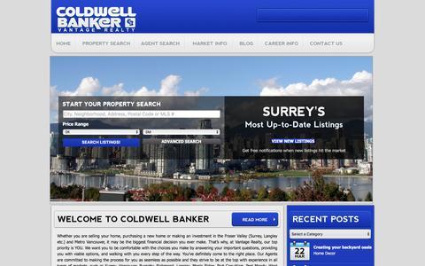 Screenshot of Home Page cbvantage.com - Coldwell Banker Vantage Realty - captured Nov. 9, 2016