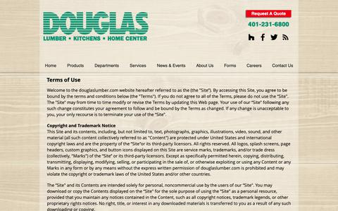 Screenshot of Terms Page douglaslumber.com - Terms of Use | Douglas Lumber, Kitchens & Home Center | Smithfield RI - captured Jan. 31, 2019