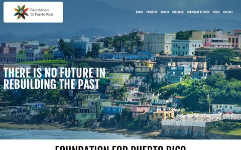 Screenshot of Home Page foundationforpuertorico.org - Foundation for Puerto Rico - captured Aug. 17, 2018