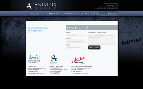 Screenshot of Contact Page aristos.com.au - CONTACT - captured Oct. 4, 2014