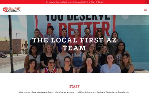 Screenshot of Team Page localfirstaz.com - Staff & Board — Local First Arizona - captured June 27, 2017