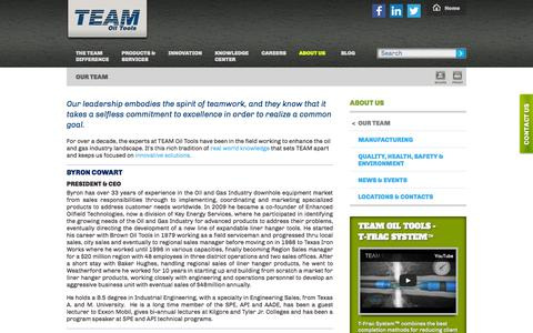 Screenshot of Team Page teamoiltools.com - Drilling Production & Well Completion Team Offers Solutions - captured Oct. 7, 2014