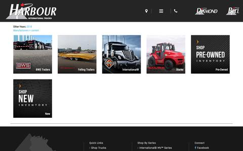 Screenshot of Products Page harbourint.ca - Inventory Showroom | Harbour International Trucks | Langley British Columbia - captured Dec. 14, 2018