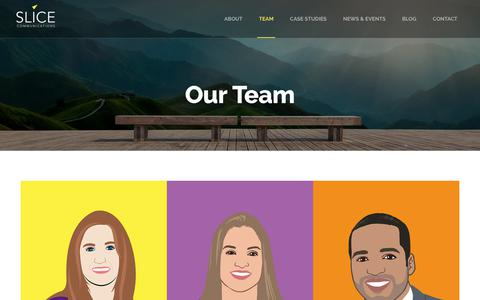 Screenshot of Team Page slicecommunications.com - Meet the Team - Slice Communications - captured July 27, 2018