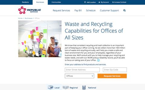 Office Recycling & Corporate Waste Solutions