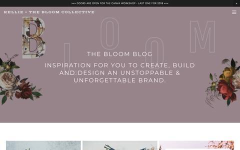 Screenshot of Blog kellieandco.com - BLOG — KELLIE + THE BLOOM COLLECTIVE - captured Oct. 25, 2018