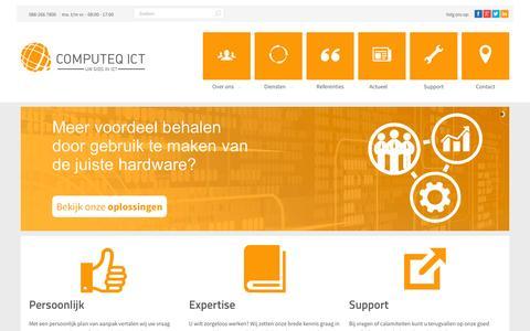Screenshot of Home Page computeq.nl - Computeq ICT BV   Uw persoonlijke Gids in ICT - captured Jan. 29, 2016