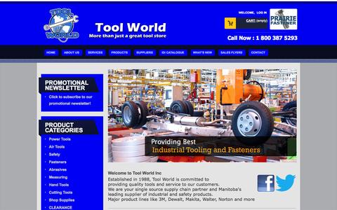 Screenshot of Home Page toolworld.net - Tool World Inc - captured Oct. 7, 2014