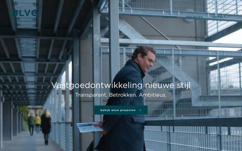 Screenshot of Home Page blvg.nl - Home - BLVG ontwikkeling - captured May 31, 2017