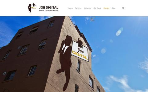 Screenshot of Contact Page joedigital.com - Joe Digital Inc  | Contact - captured Sept. 30, 2014