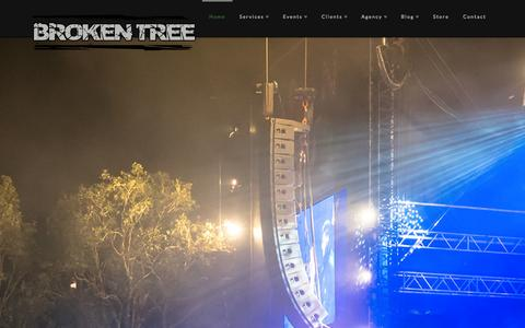 Screenshot of Home Page wearebrokentree.com - Broken Tree | We're here to support the Australian lifestyle! - captured Oct. 5, 2014