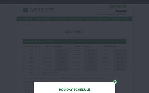 Plastic Card Printing - Pricing | Plastek Cards