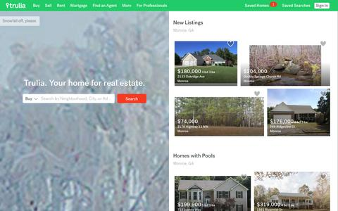 Screenshot of Home Page trulia.com - Trulia: Real Estate Listings, Homes For Sale, Housing Data - captured Dec. 21, 2015