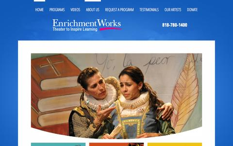 Screenshot of Home Page About Page enrichmentworks.org - Great Reasons To Choose Enrichment Works - captured Sept. 30, 2014