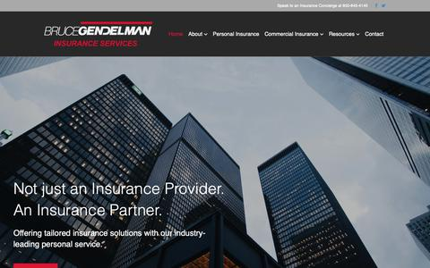 Screenshot of Home Page gendelman.com - Bruce Gendelman Insurance Services - captured Oct. 6, 2018