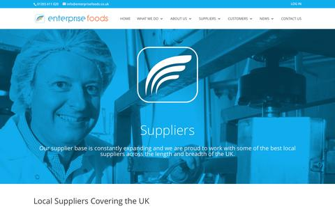 Screenshot of Testimonials Page Maps & Directions Page enterprisefoods.co.uk - Suppliers | Enterprise Foods - captured Aug. 9, 2017