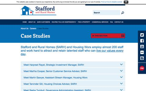 Screenshot of Case Studies Page sarh.co.uk - Case Studies | Stafford and Rural Homes - captured Oct. 24, 2017