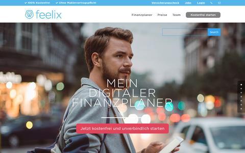 Screenshot of Home Page myfeelix.de - feelix FINANZ APP • Mein digitaler Finanzplaner - captured Nov. 25, 2016