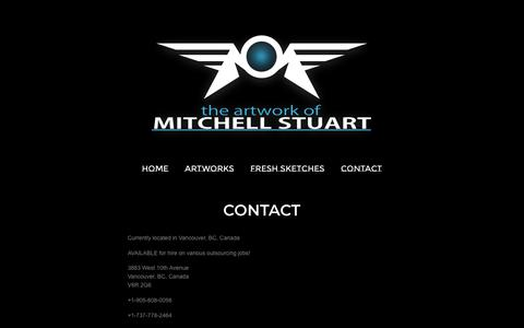 Screenshot of Contact Page onfabrik.com - Contact - The Artwork of Mitchell Stuart - captured Oct. 21, 2018