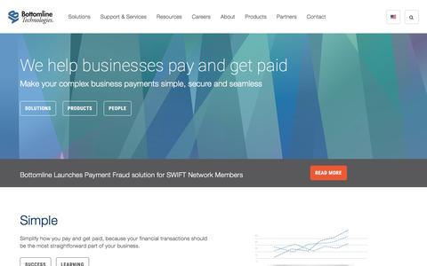 Secure & Seamless Business Payments | Bottomline Technologies