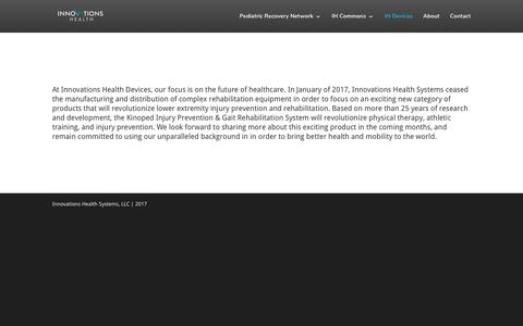 Screenshot of Products Page innovationshealth.com - Products | Innovations Health - captured Oct. 26, 2017