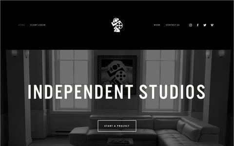 Screenshot of Home Page independentstudios.tv - Independent Studios - captured Oct. 11, 2018