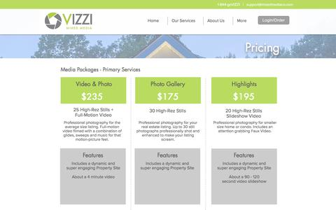 Screenshot of Pricing Page mixedmediaco.com - Michigan Real Estate Photography | Video Tours | 3D Floor Plans | Pricing - captured Nov. 29, 2016