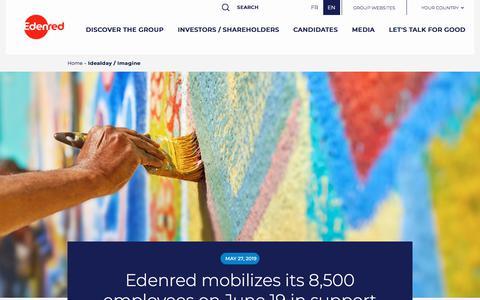 Screenshot of Press Page edenred.com - Idealday / Imagine   Edenred - captured July 8, 2019